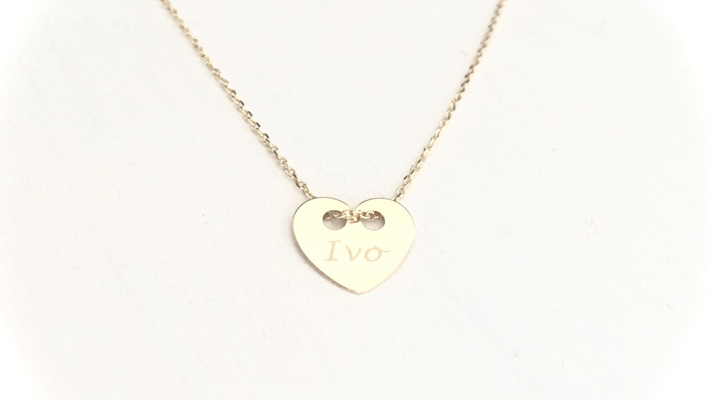 Necklace Engrave Heart