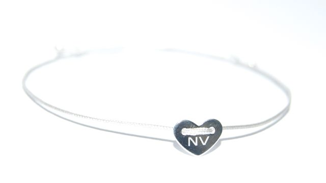 Armband Initial Heart